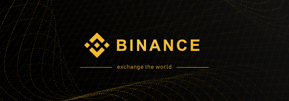 zwart logo binance